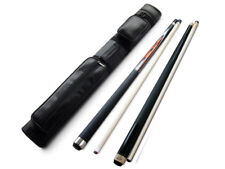 Champion Spider Billiard Pool Cue, ST14 Black Pool cue,2X2 Black Case, 2 Glove