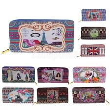 Women purse clutch leather wallet long card holder phone zip handbag