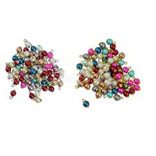 50Pcs Colorful Faux Pearls Dangle Clip on Charms Pendant with Lobster Clasp