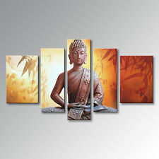 Buddha Oil Painting on Canvas Wall Art Hand Painted Modern Decor Hanging