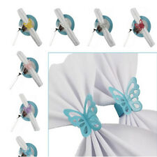 50Pcs 3D Butterfly Paper Napkin Ring Holders Home Wedding Party Table Decoration