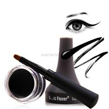 Waterproof Eye Liner Eyeliner Shadow Gel Cream Lasting Makeup Cosmetic + Brush