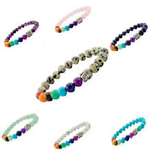 Exquisite 10mm Crystal Turquoise Beads with Silver Alloy Beads Bracelet