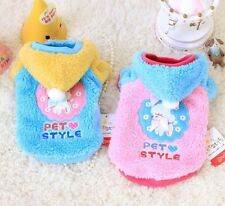 Poodle Pet Dog Hoodie Warm Puppy Coat Clothes Chihuahua Yorkie Sweater Jacket