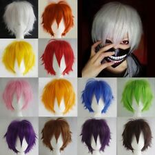 Female Male Anime Short Staight Hair Wig Cosplay Full Wig Costume Party 23 Color
