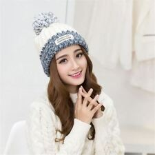 Fashion Winter Hats For Women Wool Letter Pompon Casual Hip Hop Knitted Warm Hat