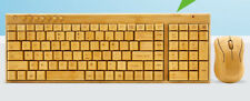 Handmade Bamboo Wooden Keyboard Mouse Multimedia Eco Friendly Multi Choices竹键盘鼠标