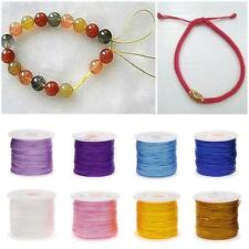 Hot Nylon Cord Thread Chinese Knot Macrame Rattail Bracelet Braided String 45M