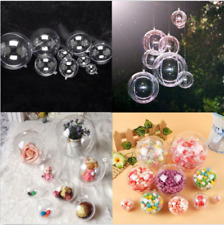 Chic Clear Plastic Craft Sphere Baubles For Christmas Decorations Wedding Decor