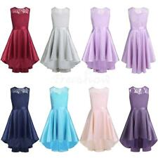New Kids Girl Lace Flower Dress Pageant Princess Wedding Formal Party Dress 4-14