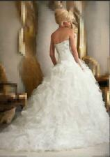 New White Ivory Lace Ball Gown Wedding Dress Bridal Gowns Size 6 8 10 12 14 16 D