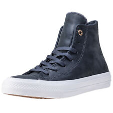 Converse Chuck Taylor All Star Ii Hi Womens Grey Leather Casual Trainers Lace-up
