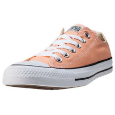 Converse Chuck Taylor All Star Ox Womens Orange Canvas Casual Trainers Lace-up