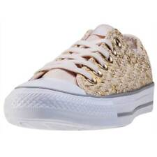 Converse Chuck Taylor All Star Ox Womens Gold Canvas Casual Trainers Lace-up