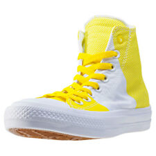 Converse Chuck Taylor All Star Ii Hi Womens Trainers Yellow White New Shoes