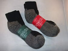 Davido Mens socks ankle/quarter 100%cotton made in Italy 6 pair black/gray 10-13