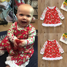 Toddler Baby Girls Kid Clothes Long Sleeve Christmas Party Casual Princess Dress