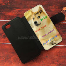 iDoge Shibe Doge Wallet iPhone cases Doge Samsung Wallet Leather Dog Phone Case