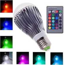 16 Colors Changing 10W 6W 5W Magic E27 RGB LED Lamp Light Bulb+IR Remote Control