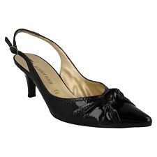 LADIES PETER KAISER PATENT LEATHER POINTED SLING BACK FORMAL SHOES SANDALS AMBRA
