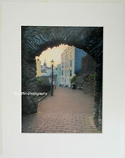 "Tenby ""Through the Arch at  Dusk"" Limited Edition Mounted Photographic Print"