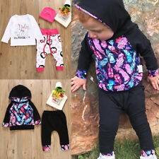2pcs Newborn Baby Boys Girls Hoodies+Pants Leggings Outfit Toddler Clothes Sets