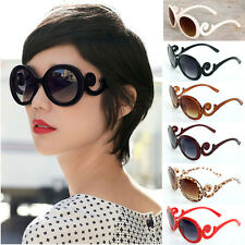Retro Womens Vintage Oversized Flower Frame Sunglasses Eyewear Shades UV400