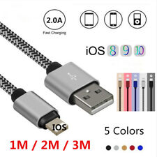 1/2/3M Strong Mesh Quick Data Sync Charger USB Cable For IOS iPhone 5 6S 7 Plus