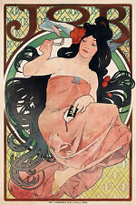 Vintage Print Paper Poster Canvas Framed Art Painting by Mucha