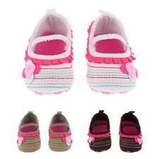 Toddler Girls Boys Crib Shoes Newborn Baby Prewalker Soft Sole Sneakers Flower
