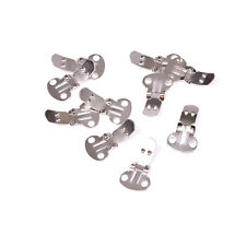 10-20Pieces Blank Stainless Steel Shoe Clips Clip on Findings for Wedding FF