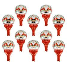 10x Foil Mylar Hand Held Balloon Stick Christmas Birthday Party Baby Shower Gift