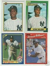 BERNIE WILLIAMS PREMIUM LOT:4 ROOKIES + 50 MINT ALL DIFFERENT CARDS