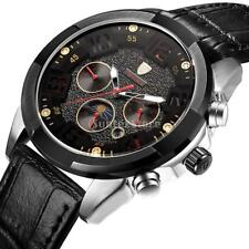 Tevise Automatic Watch Military Army Six Hands Waterproof Day Date MoonPhase
