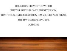 Inspirational Quotes Bible Verse Christian Quote - God So Loved The World - John