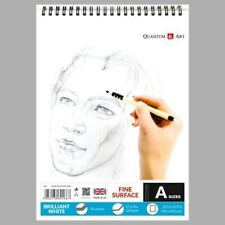 Sketch Pad Smooth White Drawing Artist Paper on SPIRAL Book 50 sheets