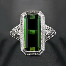 Vintage Women Rhinestone Hollow Carving Finger Ring Party Jewelry Popular