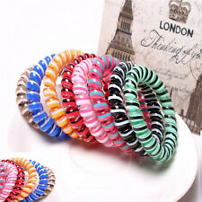 5PCS Elastic Rubber Hairband Phone Wire Hair Tie Rope Band Girls Ponytail*