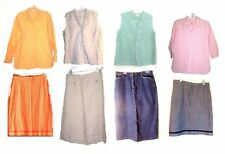 Cherokee Linen Top and Skirt Sets + Linen & Cotton Separates Size Medium - 18