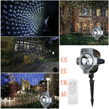 Remote Snowfall LED Lights Rotating Waterproof Snowflake Outdoor Projector Light
