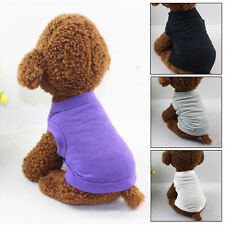 XS-XL Cotton Pet Clothes Dog T Shirt Cat  Beagle Small Puppy Shirt Tank Top Vest