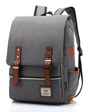 Men Canvas Laptop  Backpack Schoolbag Travel Rucksack Fashion Shoulder Bag
