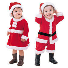 Toddler Kids Baby Boys Girls Christmas Santa Claus Hat Fancy Dress Up Costume
