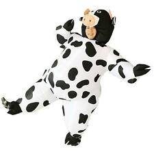 Inflatable Cow Costume Animal Air Blowup Fancy Dress Halloween Outfit Adult Suit