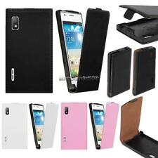 New Synthetic Leather Flip Skin Case Cover For LG Optimus L5 E610 E612 NC89