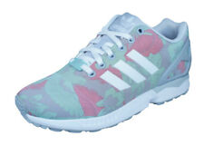 adidas Originals ZX Flux Womens Trainers / Retro Shoes - Floral Green