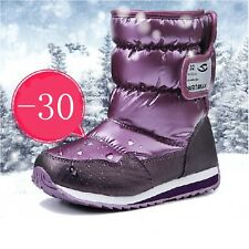 Waterproof Childrens Snow Boots For Cold Winter Fashionable Girls Boys Kid Shoes