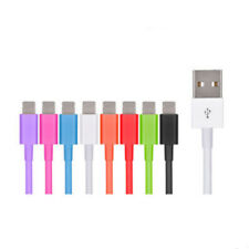 New 9 Colors 20cm USB Cable Data Sync Charger FOR iPhone 5 5S 6 7 iPod Nano US