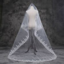 New Elegant Wedding Veils White/Ivory 300m Lace Edge Wedding Veil
