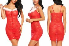 Mrs Santa Claus Costume Christmas Women Adult Sexy Fancy Dress Party Xmas Outfit